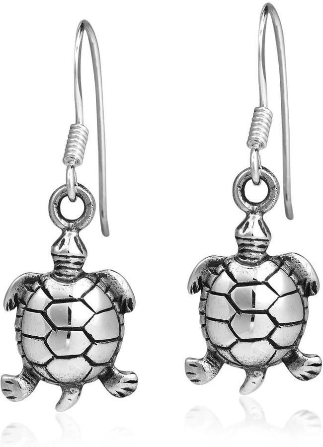 Clip earrings eco friendly Turtle shell jewelry Turtle shell earrings Modern ear clips silver Large Rosie Ear Clips in Light Tortoise
