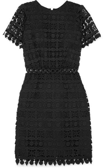 MICHAEL Michael Kors Guipure Lace Mini Dress - Black