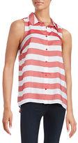 Kensie Striped Button-Front Shirt