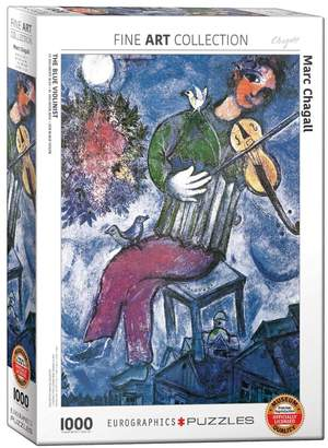Eurographics Fine Art The Blue Violinist by Marc Chagll 1000-Piece Jigsaw Puzzle Set