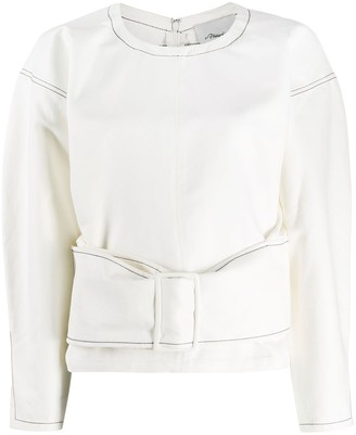 3.1 Phillip Lim Twill Belted Pullover Top