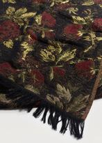 Violeta BY MANGO Metallic flowers scarf