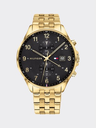 Tommy Hilfiger Sub-Dial Watch with Gold-Plated Bracelet