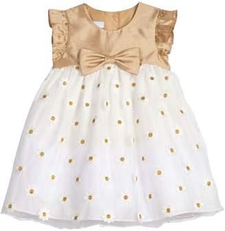 Pastourelle Baby Girl's Empire Waist Shantung Tulle Dress