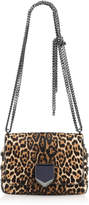 Jimmy Choo LOCKETT PETITE Natural Leopard Print Pony Shoulder Bag