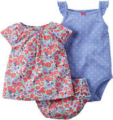 Carter's 3-pc. Short-Sleeve Floral Bodysuit Set - Baby Girls newborn-24m