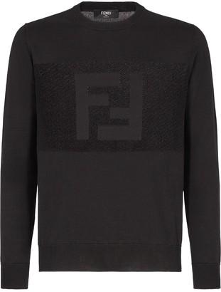 Fendi FF knitted cotton sweatshirt