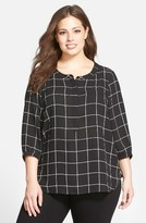 NYDJ Plus Size Women's Henley Top
