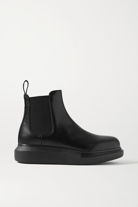 Alexander McQueen Leather Exaggerated-sole Chelsea Boots - Black