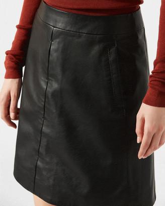 Jigsaw Mini Leather Skirt