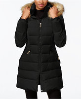 Ivanka Trump Faux-Fur-Trim Down Puffer Coat