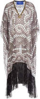 Elena Makri Embellished Print Tunic with Fringe