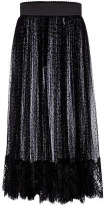 Dolce & Gabbana Point d'esprit tulle midi skirt