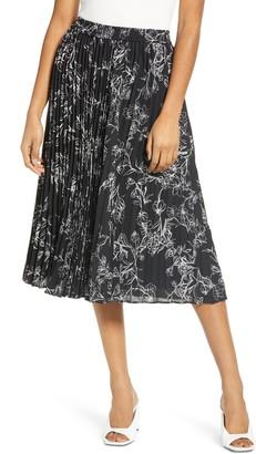 Halogen Pleated Chiffon Skirt