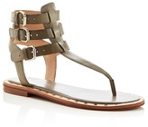 French Connection Imanna Triple Buckle T-Strap Sandals