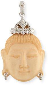 Armenta New World Carved Buddha Enhancer with Champagne Diamonds