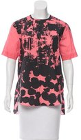 Cédric Charlier Printed Short Sleeve Top w/ Tags