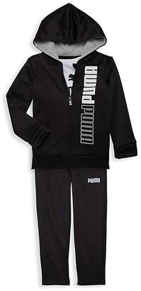 Puma Little Boy's 3-Piece Jacket, Tee Jogger Pants Set