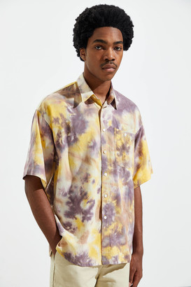 Used Future Tie-Dye Short Sleeve Button-Down Shirt