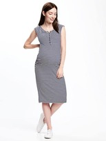 Old Navy Maternity Rib-Knit Slim-Shift Midi Dress