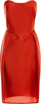 Carven Strapless Wool-Gazar Dress