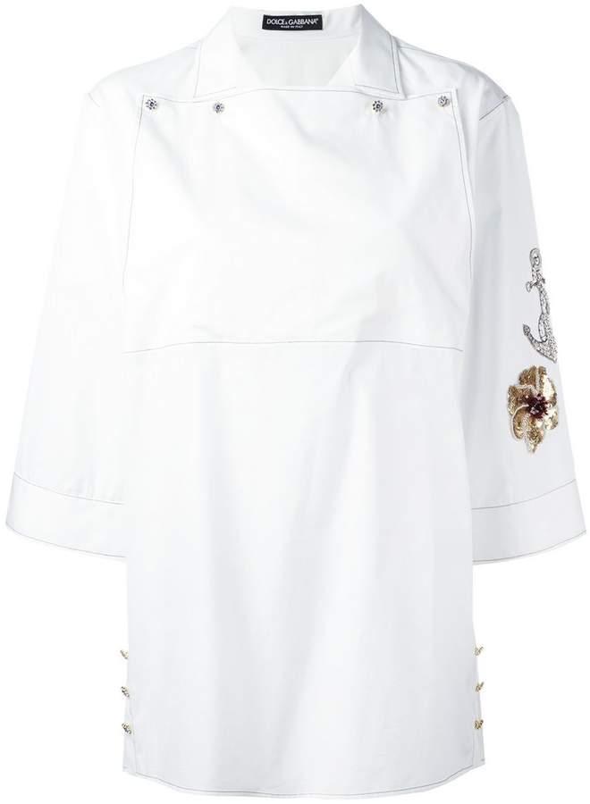 Dolce & Gabbana embroidered sleeve shirt