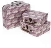 Infant Milkbarn Set Of 3 Animal Print Suitcases - Grey