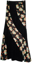 Free People Black Velvet Skirts