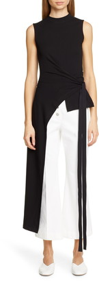 Rosetta Getty Split Apron Wrap Tee