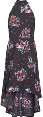 Yumi London Floral And Butterfly Asymmetric Dress
