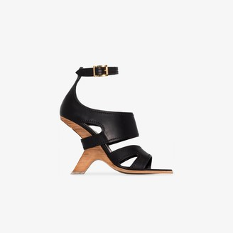 Alexander McQueen Black No.13 105 Wedge Leather Sandals