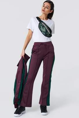 NA-KD Side Slit Track Pants Purple