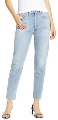 Citizens of Humanity Liya High Waist Raw Hem Slim Jeans