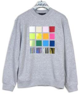 "starstyling - ""Richter"" Sweater Grey - Size XS - Blue/Grey/Orange"