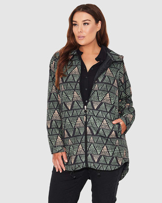 17 Sundays Geo Print Raincoat