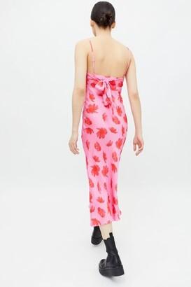 Glamorous Floral Tie-Back Midi Slip Dress
