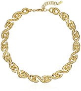 """Cole Haan Metal Basic Necks and Bracelets"""" Small Metal Logo Link Gold Chain Necklace"""