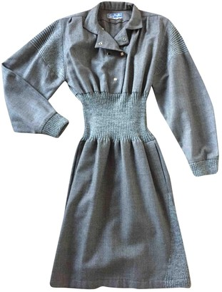 Thierry Mugler Grey Wool Dresses