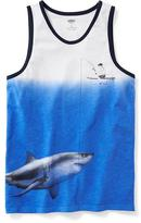 Old Navy Dip-Dye Shark-Graphic Tank for Boys