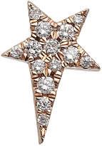 Diane Kordas 18kt Gold Star Earring with White Diamonds