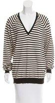 By Malene Birger Striped V-Neck Sweater