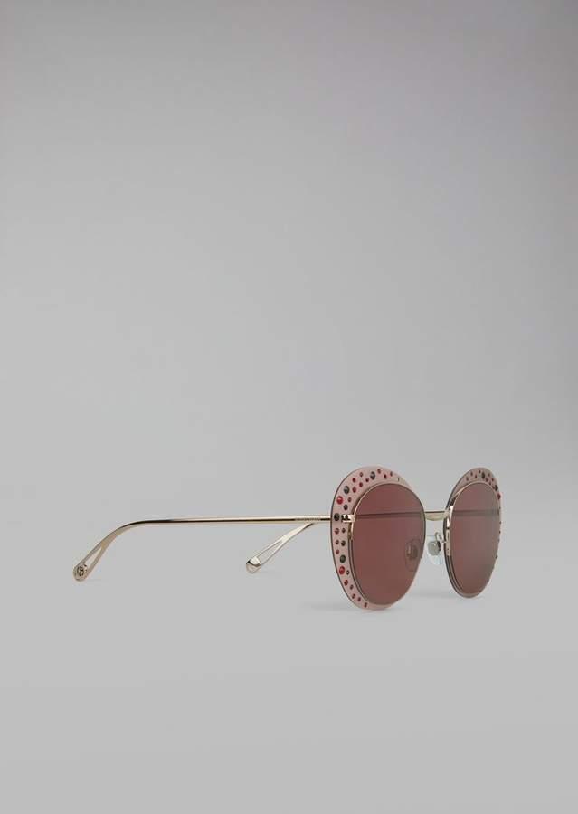 Giorgio Armani Cat Walk Open Lenses Glasses With Crystals