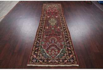 """Gerson World Menagerie One-of-a-Kind Persian Hand-Knotted Runner 2'9"""" x 8'10"""" Wool Red Area Rug World Menagerie"""