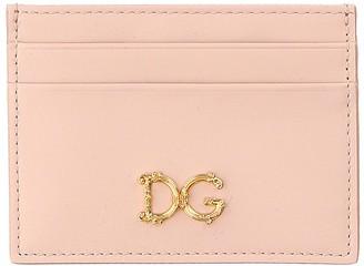 Dolce & Gabbana Rose Dauphine Leather Card Holder