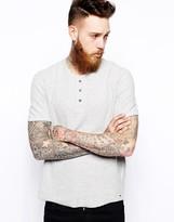 Levi's Henley T-shirt Slim Fit Mini Waffle