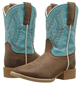Ariat Bristo (Toddler/Little Kid/Big Kid) (Tan Tilt/Bustin Blue) Cowboy Boots