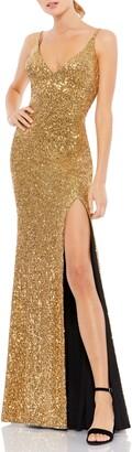 Mac Duggal Sequin Sheath Gown