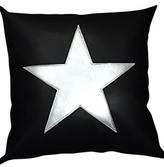 Ah!dorned Black White Star Pillow
