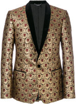Dolce & Gabbana metallic jacquard dinner jacket - men - Cotton/Polyester/Viscose - 48