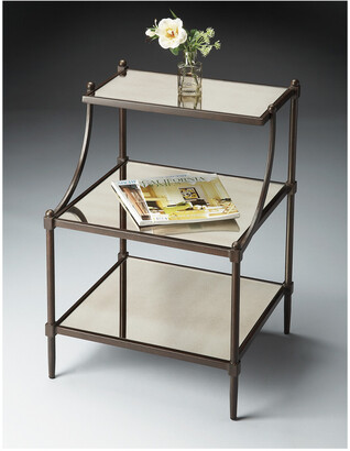 Butler Specialty Butler Peninsula Mirrored Tiered Side Table